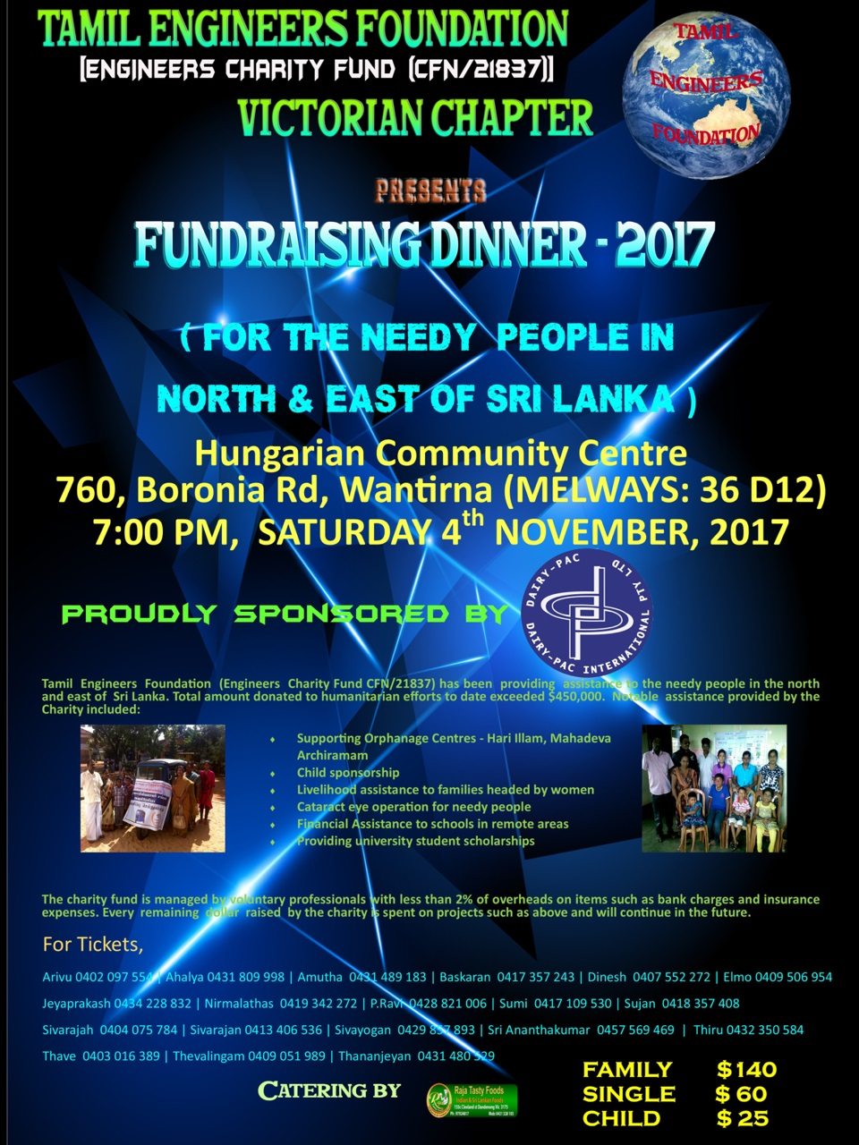 Victorian Chapter Fundraising Dinner 2017