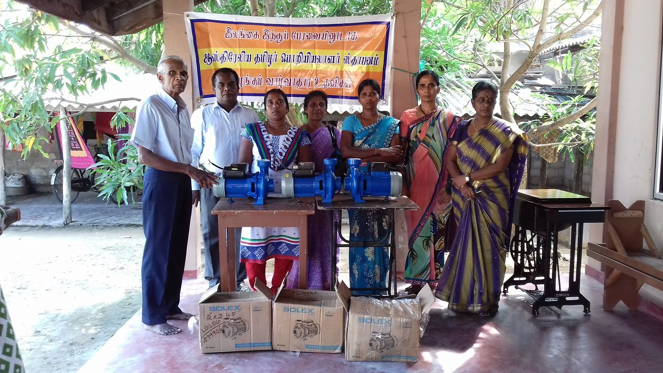 Revolving Loans to 10 Women Headed Families in Mannar Hindu Council of Sri Lanka