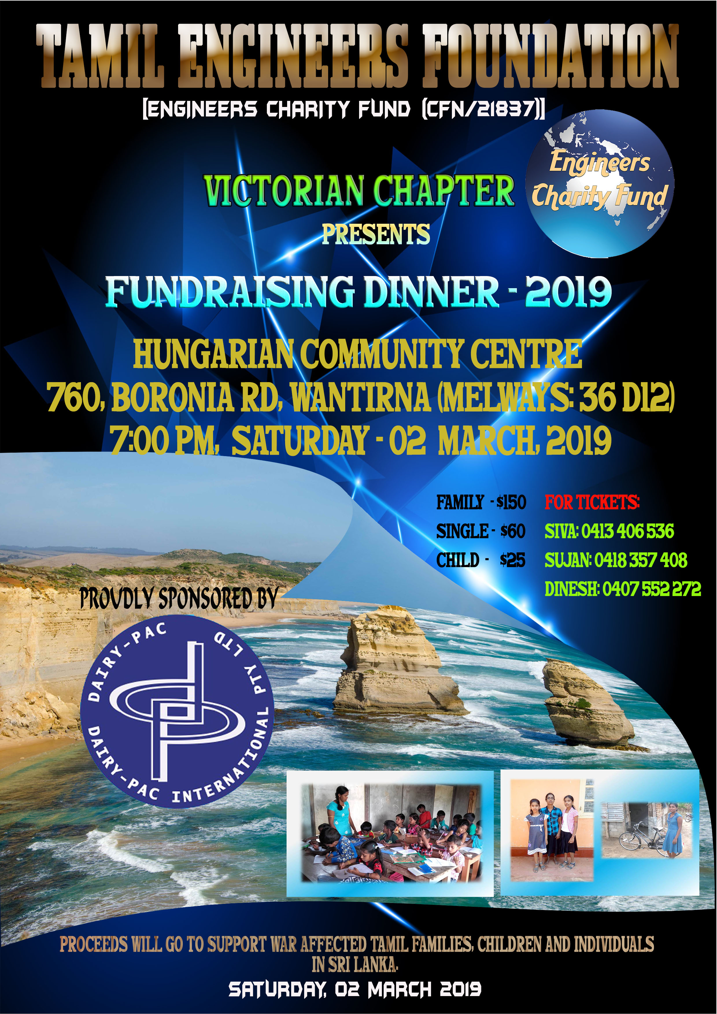 TEF Victoria Chapter Fundraising Dinner - 2019